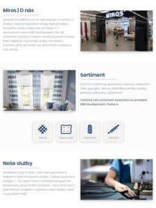 Till6 Portfolio - Webové stránky Miros.cz Tablet
