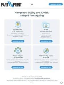 Till6 portfolio - Webové stránky part2print.cz Tablet